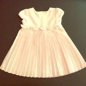 Pleated petal pink dress